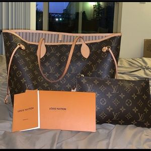 Louis Vuitton Neverfull tote.